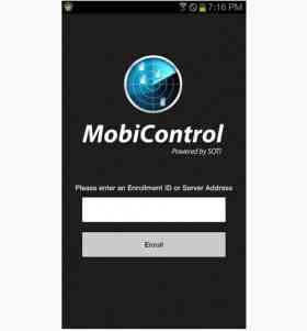 SOTI Mobicontrol Android Agent Login