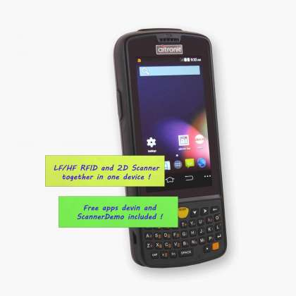 Android Handheld LogiScan-1560-4G LTE, frontal, alfanumeric keyboard