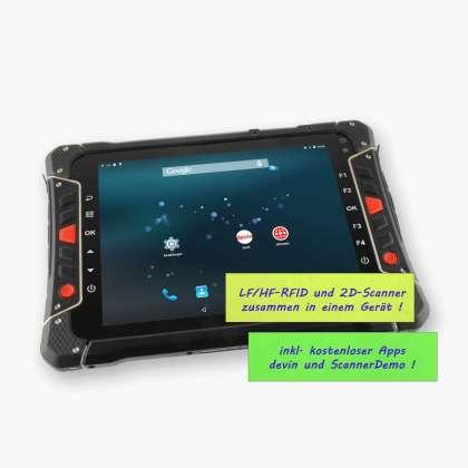 Industrie-Tablet-PC LogiScan-2000, perspektivisch