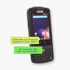 Android 5.1 MDE-Gerät LogiScan-1560, frontal, alfanumerische Tastatur