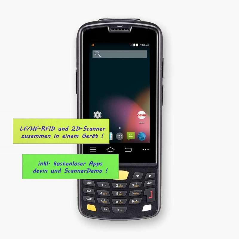 Android MDE-Gerät LogiScan-1550, frontal, numerische Tastatur